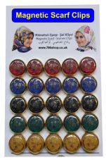 Magnetic Scarf / Scarves Clips For Scarfs, Shawls, Colour Hijab Hold Clips